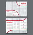 esign folding flyer with space for photos for vector image vector image