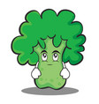 eye roll broccoli chracter cartoon style vector image vector image