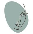 female character face portrait woman line art