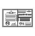 flight log book vector image
