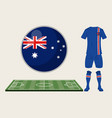 football iceland sport wear vector image vector image