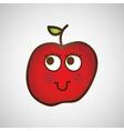 fruit nature healthy cartoon food vector image