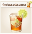 Glass of iced tea Detailed Icon vector image vector image
