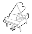 Grand piano icon outline isometric style vector image vector image