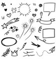 hand drawn set doodle elements for concept design vector image