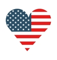 heart love usa isolated icon vector image