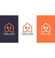home food logo design vector image vector image