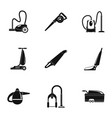 house vacuum cleaner icon set simple style vector image vector image