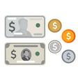 icon money usd dollar cash paper money currency vector image