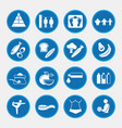 icon set of obesity related diseases and vector image