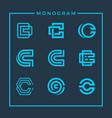 inspirational monogram letter c design vector image vector image