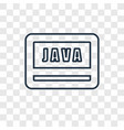 java concept linear icon isolated on transparent vector image
