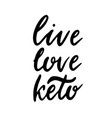 keto lettering inscription phrase vector image vector image