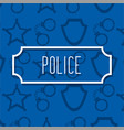 label inscription police profession work vector image vector image