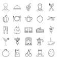 light food icons set outline style vector image vector image