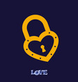 lock icons a simple silhouette of the lock for vector image vector image
