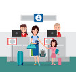 luggage and passport control vector image