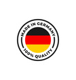 made in germany icon with german flag circle vector image