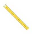 measure tape meter scale vector image vector image