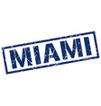 Miami blue square stamp vector image vector image