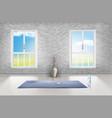 mockup of empty room studio for yoga vector image vector image