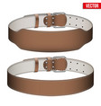 Mockup Weightlifting GYM Leather Belt vector image