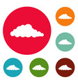 nebulosity icons circle set vector image vector image