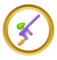 Paintball gun icon vector image vector image