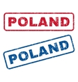 Poland Rubber Stamps vector image vector image