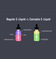 regular e-liquid vs cannabis e-liquid vector image vector image