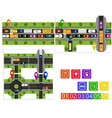 road infographic a set of abstract road junctions vector image vector image