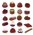 set chocolate candies vector image
