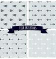 set fish skeleton seamless patterns vector image