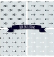 Set of Fish Skeleton Seamless Patterns vector image vector image