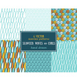 Set of sea seamless patterns tiling for abstract vector image vector image