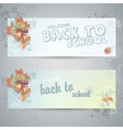 Set with autumn leaves viburnum berries vector image