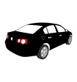 Silhouette of Car vector image vector image