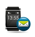 smart watch concept email social media vector image vector image