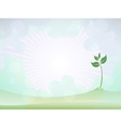 spring sprout shoot vector image