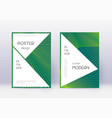stylish cover design template set green abstract vector image vector image