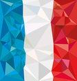 Stylized flag of France Low poly style vector image vector image