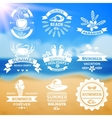 Summer vacation typography emblems labels set vector image vector image