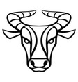 taurus zodiac sign black horoscope symbol vector image
