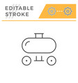 trailer tank line icon vector image
