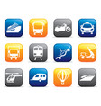 transport buttons vector image vector image