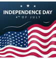 usa indeoendence day poster 4 july vector image