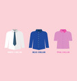 white and blue shirt vector image vector image