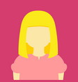 young girl long blonde hair people graphic vector image