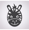 zebra face icon vector image