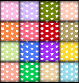 Heart pattern on colorful background vector image